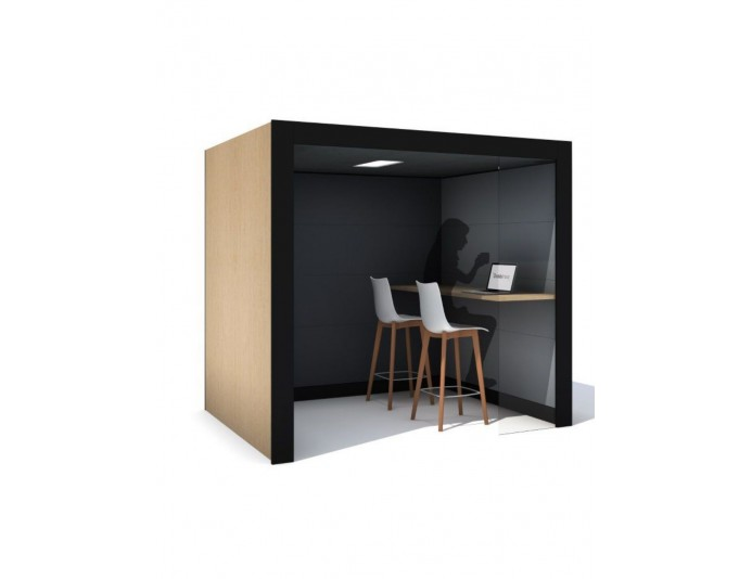 Box acoustique ouvert OASIS LINEAR TEAM BOOTH - sur devis