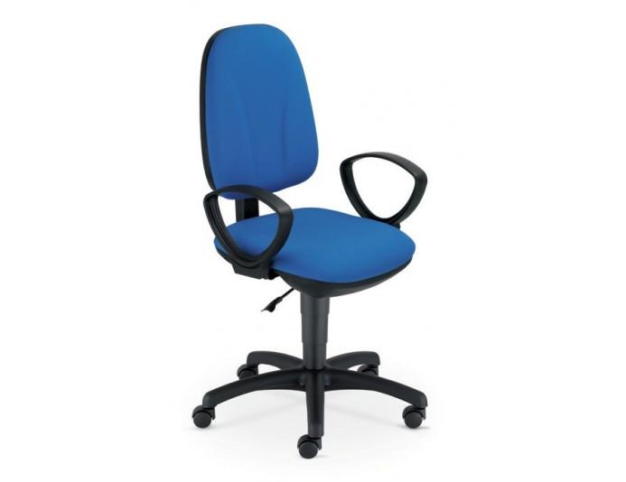 Chaise de bureau PEGAZ en tissu avec accoudoirs fixes