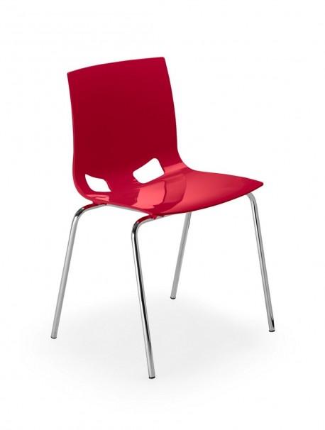 Lot de 4 chaises de collectivités empilables FONDO
