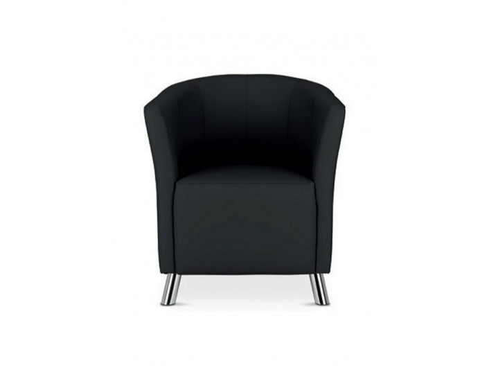 Fauteuil d'accueil similicuir COLUMBIA
