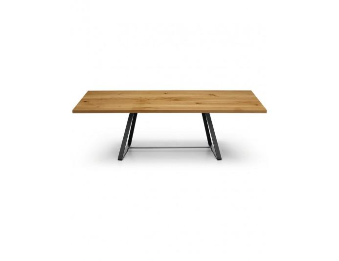 Nuancier table polyvalente design modern en bois massif ALFRED