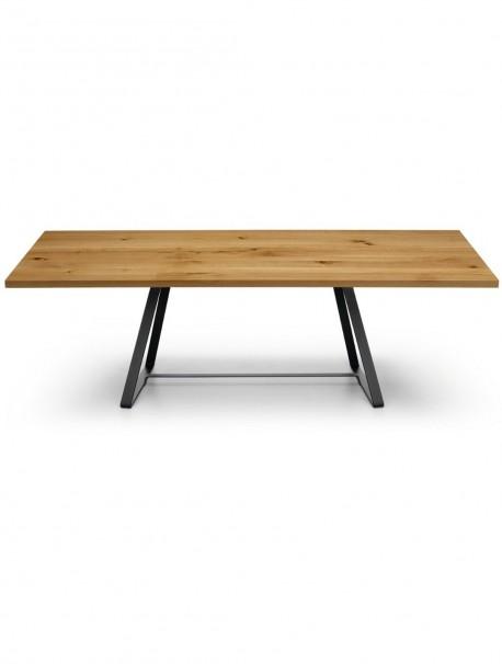 Table polyvalente design modern en bois massif ALFRED