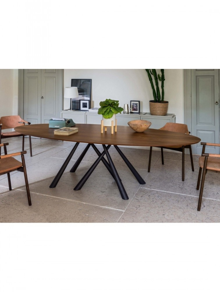 Table Ovale Moderne Et Design En Plaqué Bois FOREST