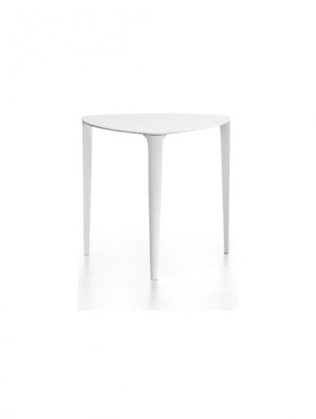 Petite table triangulaire avec 3 pieds en acier NENE