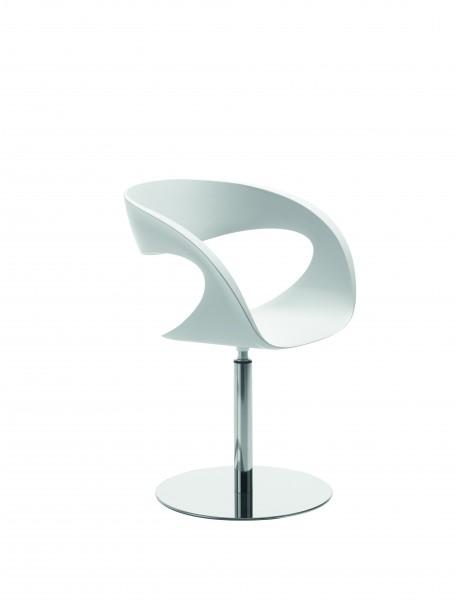 Chaise visiteur platique coloris blanc