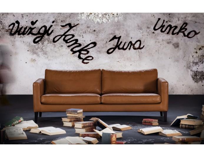 Sofa d'accueil en cuir ELEGANCE