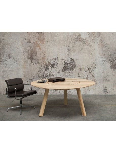 Table ronde en bois massif PIC-NIC