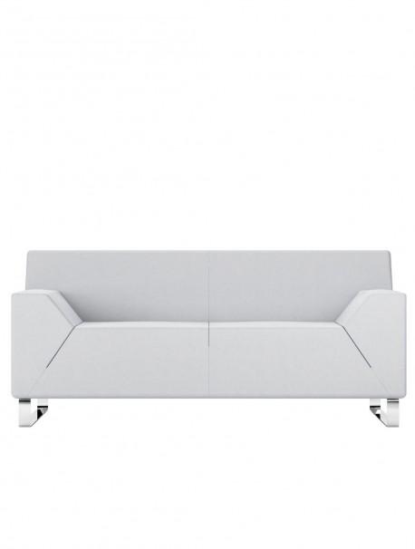 Canapé d'accueil 2 places en similicuir ASSO - Blanc