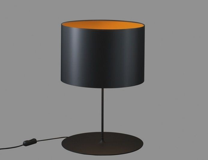 Lampe de bureau noire HALF MOON TABLE - Noir/Orange