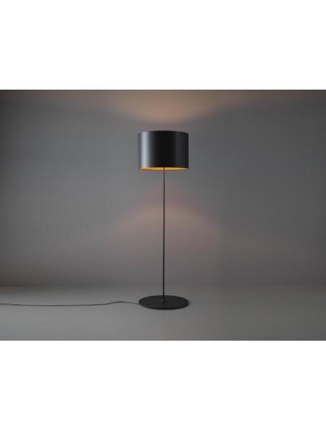 Lampadaire de bureau sur pied HALF MOON - Noir/Orange