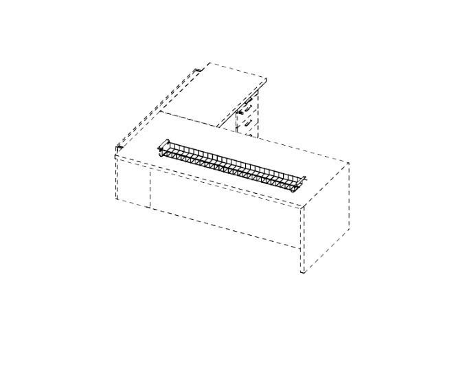 Grille horizontale pour passage de câbles