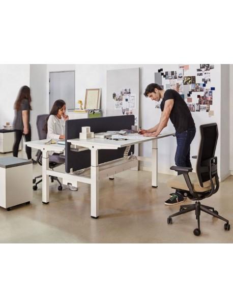 Bureau assis debout électrique pour 2 personnes MOBILITY