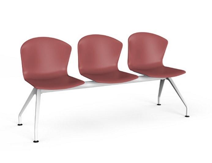 Chaises d'attentes sur poutre 3-4 places en polypro WHASS