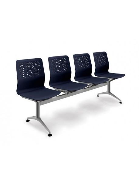 Chaises pour salle d'attente 3-4 places bleues URBAN BLOCK