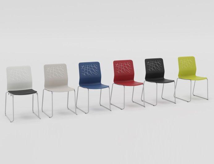 Lot 2 chaises de collectivité en polypropylène URBAN BLOCK