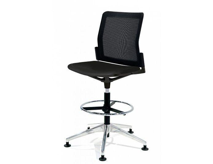 Chaise haute de bureau avec dossier en résille URBAN PLUS
