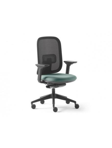 Chaise de bureau ALAIA dossier résille - Bleu clair