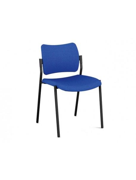 Chaise de réunion empilable AMET 4 pieds - Bleu