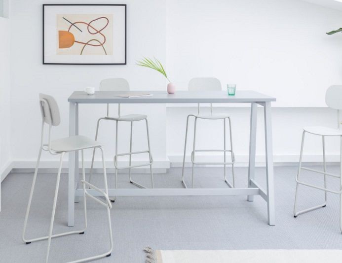 Table haute mange debout OGI M - Blanc - MDD