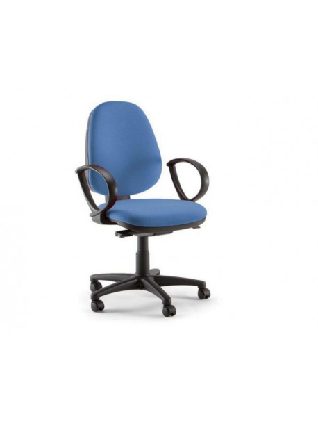 Chaise de bureau pas cher en tissu OPEN - Bleu