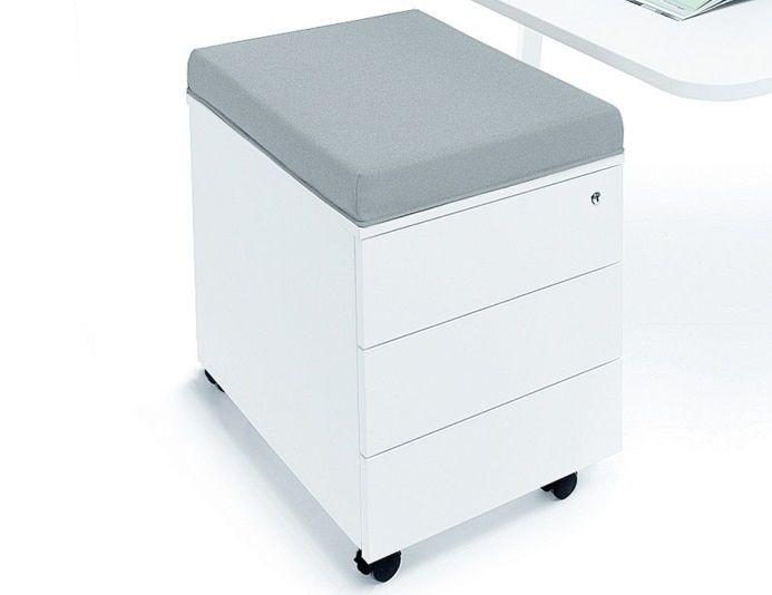 Caisson mobile 3 tiroirs RIO - Bois - Blanc - MDD