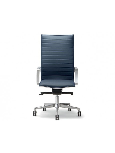 Fauteuil de direction ergonomique en similicuir DIVA - Bleu