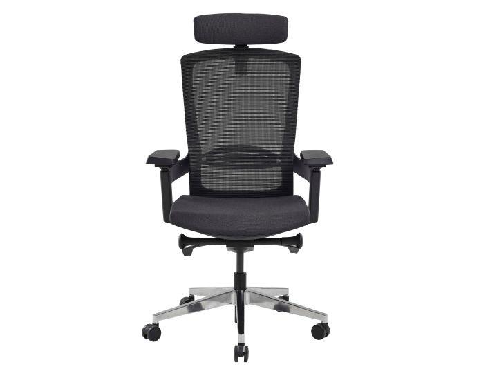 Fauteuil de bureau ergonomique MARQUIS - Noir/Anthracite - SITEK