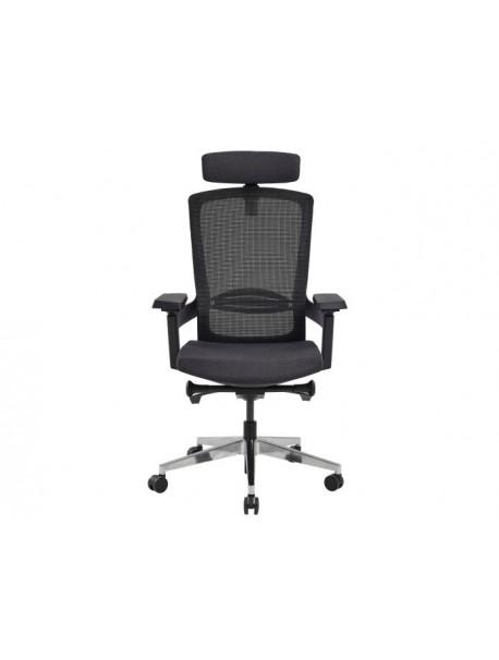 Fauteuil de bureau ergonomique accoudoirs réglables MARQUIS - Noir/Anthracite