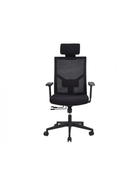 Chaise de bureau ergonomique pas cher noir ZACK