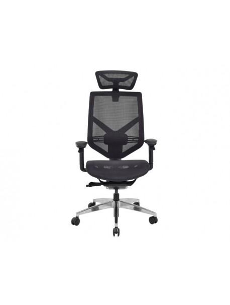 Fauteuil de bureau ergonomique synchrone noir TECHNO