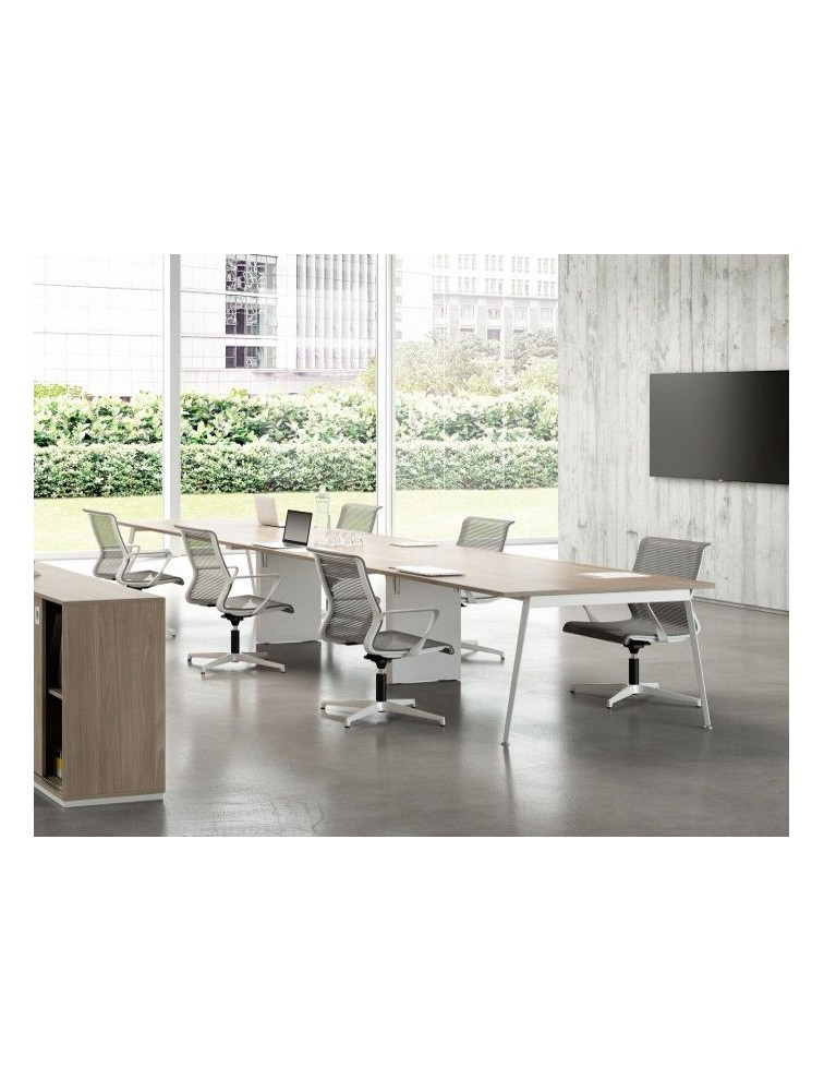 Iconic Table De Reunion Modulable Design Delexmobilier Fr