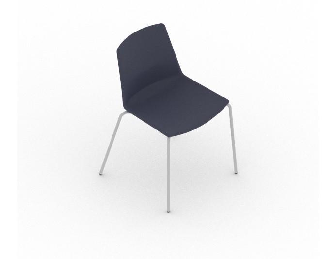 Chaises de réunion CLUE - Tissu - QUADRIFOGLIO