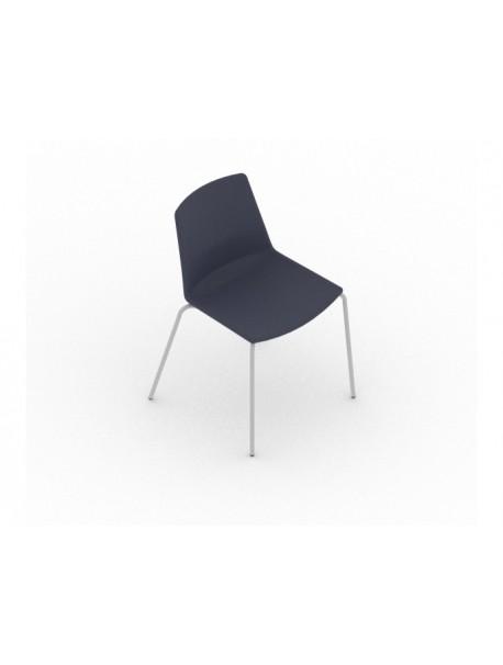 Chaise pour salle de réunion en tissu CLUE