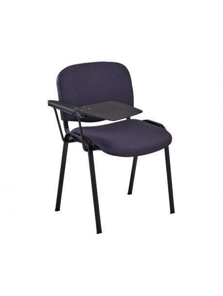 Chaise avec tablette empilable CLAUDIA - Gris Anthracite