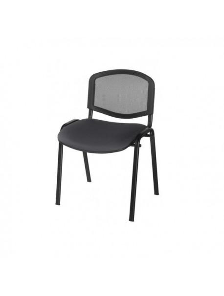 Chaise visiteur pas cher LENA - Noir