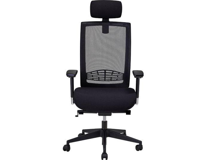 Siège de bureau ergonomique YVAN avec dossier résille - Noir - SITEK