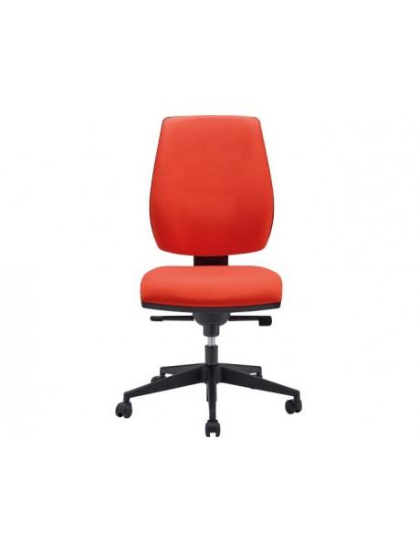 Chaise de bureau confortable en tissu RYAN - Rouge