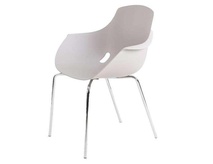 Chaise polypropylène empilable MAHE - Taupe