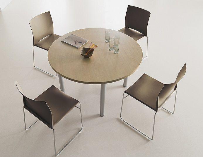 TIM - Table de réunion ronde Ø 120 cm - 4 personnes - COLUMBIA