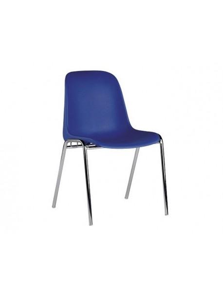 Chaise en polypropylène pas cher ELENA - Bleu