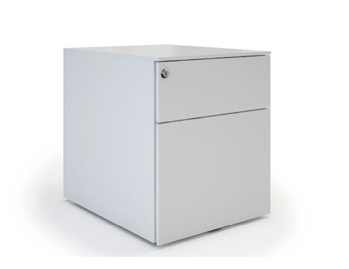 Caisson mobile métallique 1 tiroirs + 1 dossier suspendu UNIVERSAL QUICK 420