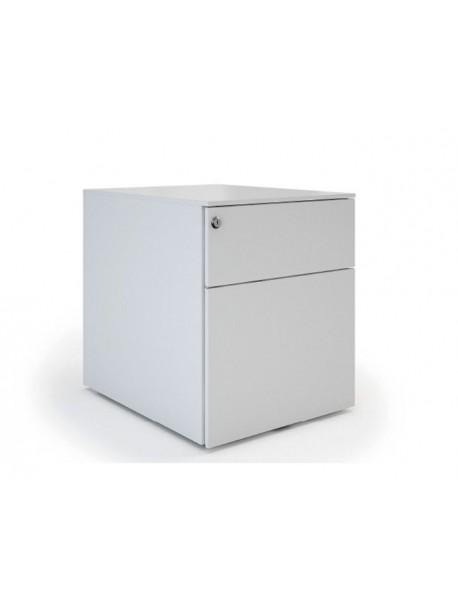 Caisson de bureau métal UNIVERSAL QUICK 420 - Blanc