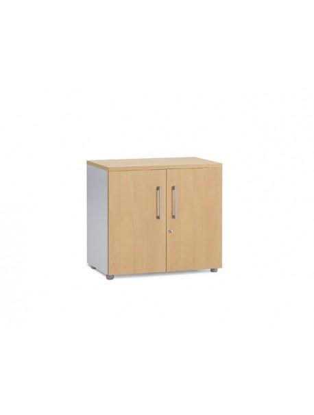 Armoire de bureau bois avec portes battantes hauteur 69 cm - Pommier royal