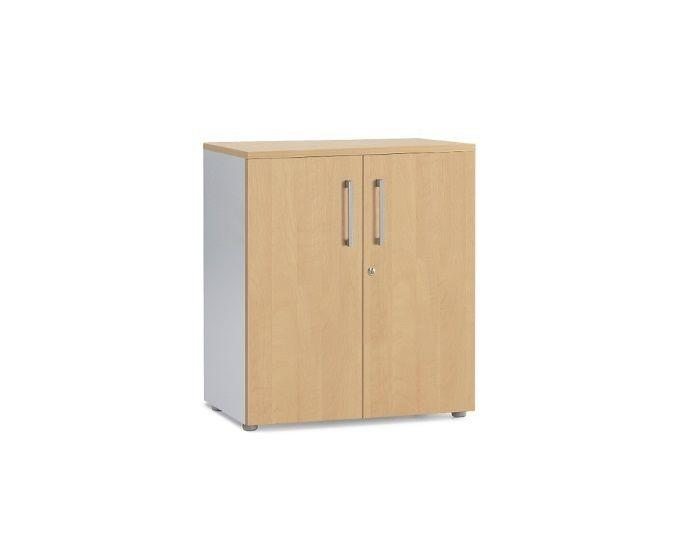 Armoire portes battantes en bois H100 cm - COLUMBIA