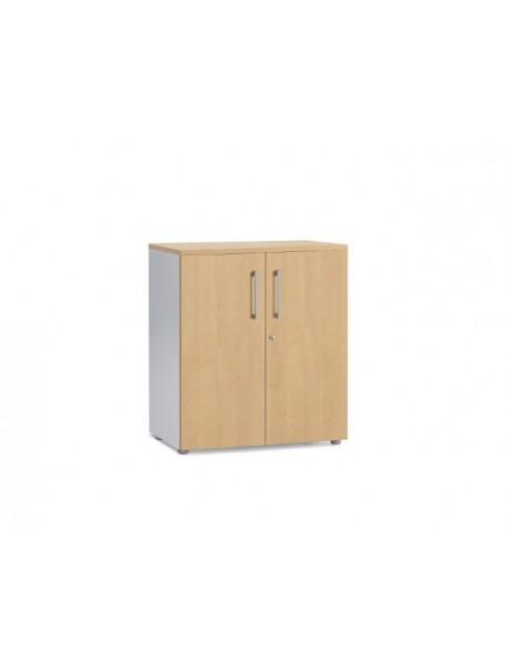 Armoire de bureau sécurisée avec portes battantes en bois H100 cm - Pommier royal