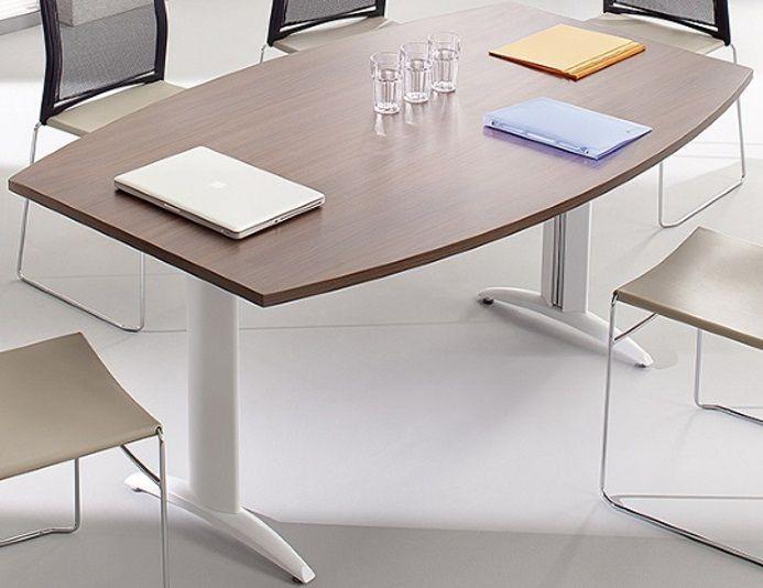 Table de réunion tonneau 180 x 110 cm - PREM'S - Chêne ambré | COLUMBIA