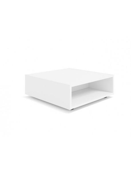 Table basse blanche carrée sur roulettes CARRO - Blanc
