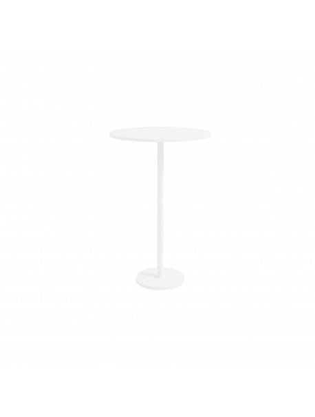 Table mange-debout bois ronde 80 cm avec pied central DETENTE - Blanc