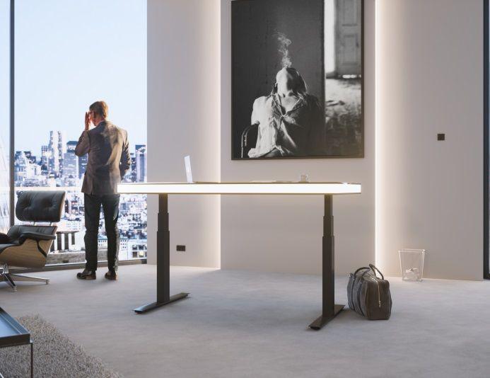 Bureau assis-debout électrique avec led AIR