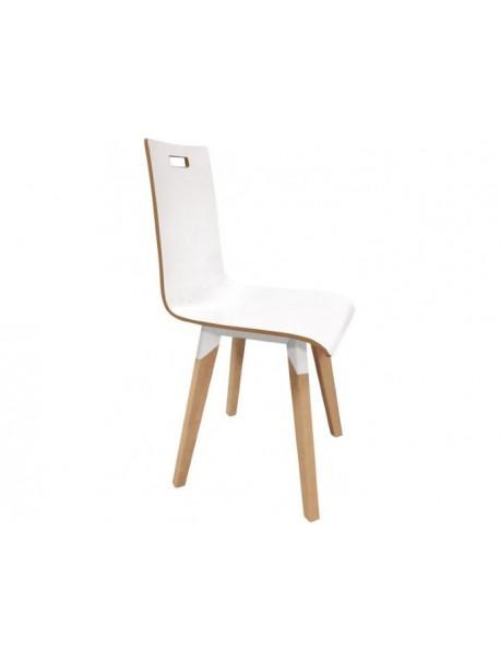 Chaise de collectivité en bois EVASION blanc